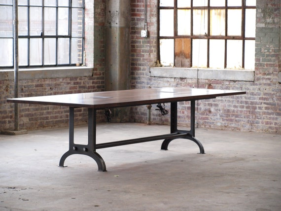 Large Wood Dining Room Tables: Large Beech Wood Industrial Conference Or Dining Room Table