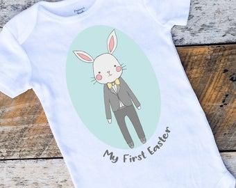 Baby Boy Onesies®, My First Easter Boy Onesie, Easter Bunny Onesie, Spring Onesie, Easter Bodysuit, Baby Boy Clothing, Onesies for Boys