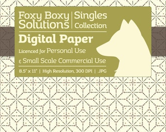 Geometric Stars - Single Sheet Printable Scrapbooking Paper, Crafting Supply, Instant Download