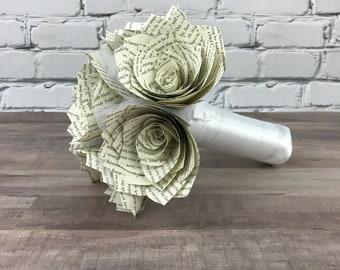 Book Page Paper Bouquet
