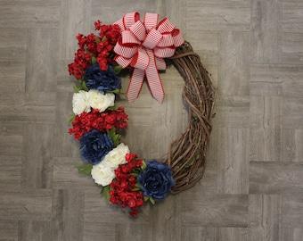 Fourth of July Wreath| Patriotic Wreath | Summer Wreath | USA Wreath