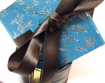 Turquoise and Chocolate Mini Photo Album