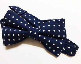 Cobalt Blue with White Polka-Dots