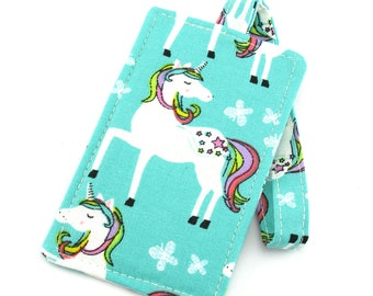 Mint Unicorn Kids Girls Luggage Tag Bag Tag Travel Accessories, Gift for Traveler, Fun Gift
