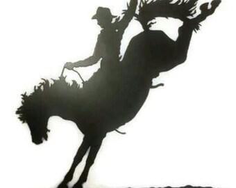 Bronco Rider, Metal Redneck Sign, Rodeo, Redneck Decor, Rodeo Wall Art,