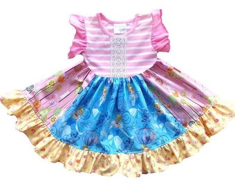 Cinderella Castle dress Disney princess dress magic kingdom Royal Table outfit movie clothing girls toddler outfit dress Momi boutique custo