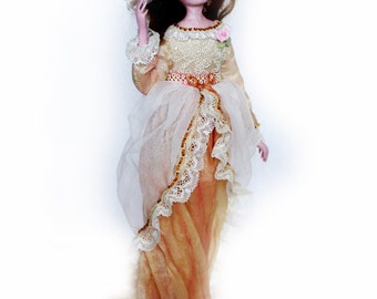 Art doll - OOAK dolls - handmade fairy doll, interior clay angel doll, cream decor, Christmas gift - 10 inch