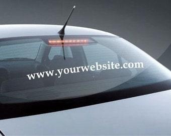 Your Website- Vinyl Car Decals Stickers Vinyl Decals