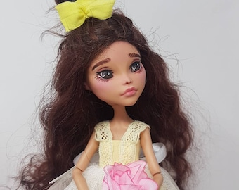 Beauty and the Beast inspired OOAK Doll Monster High Repaint
