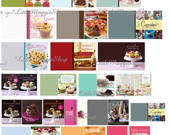 Dollhouse miniature cooking book covers, bakery shop, DIY, 1:12 Printable