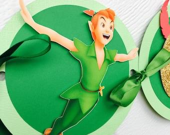 Peter Pan banner, Peter Pan Highchair banner, Peter Pan Party