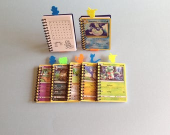 Pkg. 25+ Pokemon Notebooks with 3D Printed Pokemon Bookmarks - Pokemon Party Favors - Pokemon Party Giveaways - Pokemon Birthday