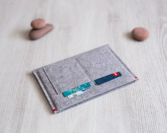 Kobo case sleeve, light grey felt, handmade
