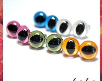 7.5mm Cat eyes Amigurumi eyes Plastic eyes Safety Eyes 5 PAIRS opaque ( 7C1)