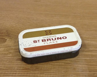 Vintage Ogdens St Bruno Flakes Tin.  Vintage Tobacciana in good used condition