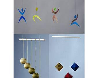 L'octaèdre, Gobbi et danseur Montessori Mobiles (lot de 3)