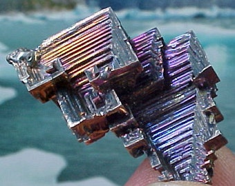Rainbow Geometric Bismuth Crystal Mineral Specimen Excellent for Instilling Group Cohesiveness 008
