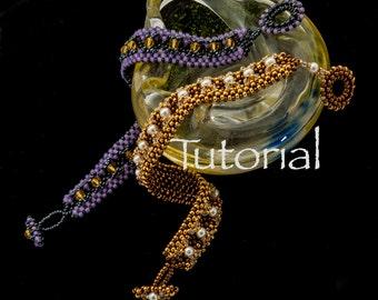 Seed Bead-Woven Bracelet Tutorial Channel Crossing Digital Download