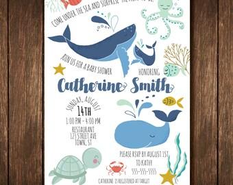 Under the Sea Baby Shower Invitation - Gender Neutral - Custom Digital Copy