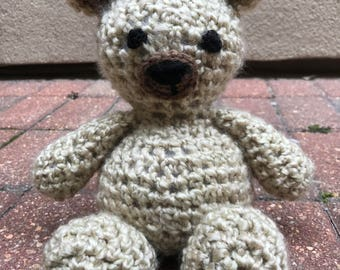 Amigurumi Teddy Bear, Teddy Bear, Plush Bear, Crochet Stuffed Animal, Nursery Decor, Handmade Stuffed Animal, Teddy Bear Gif, Baby Gift