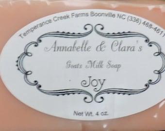 Handmade Goat's Milk Soap: Joy