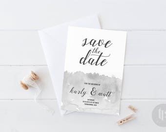 Printable Save the Date - Customised - Watercolour