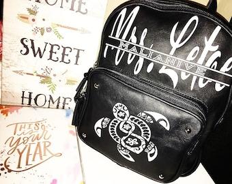 Personalized Mini Backpack/Mini Bag/School Bag/Child Backpack/Monogrammed bag/Custom Bag/Toddler Bag/Gift Bag