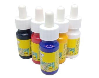 Marbling Ebru Color Paint 5 Bottles 30ml 1oz Supplies