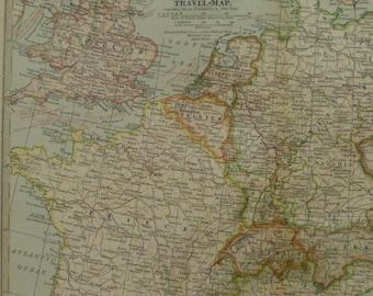 Map of france italy etsy europe mapmap of europecentral europe travel mapengland france switzerland italy gumiabroncs Choice Image