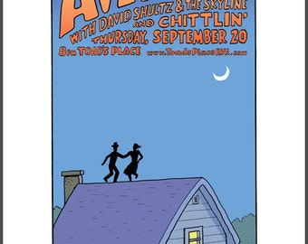 Avett Brothers concert poster giclee print by David Lasky