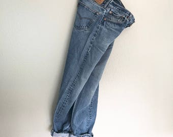 Vintage Levi's 501's Blues - Button Fly / Worn-In 32W x 34L / Size 8 - 10 / Levi Strauss & Company Jeans / Men's or Women's Jeans