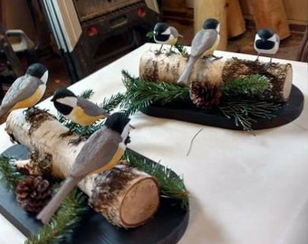 Set of 3 Chickadees