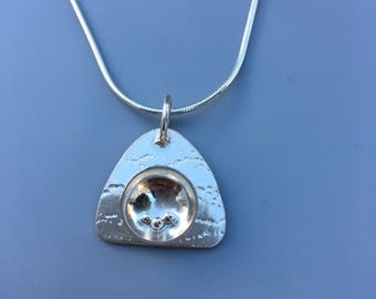 Silver Necklace with Fantasy Pendant