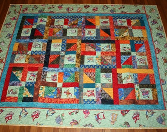 Custom Made Baby Quilt - a one of a kind quilt made to your specifications to match your colors and decorations to welcome your baby
