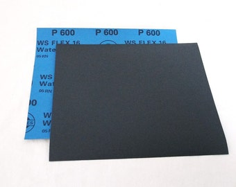 """600 Grit  Wet / Dry Sand Paper  9""""x11"""" Sheets Package  Of 10"""