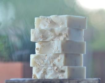 Lavender Oatmeal Soap -  Organic Shea Butter Soap - Exfoliating Soap - Artisan Soap - Lavender Soap