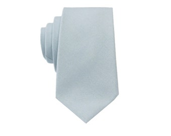 Baby Blue Linen Tie.Wedding Tie.Blue Mens Tie