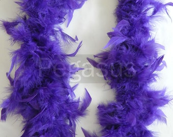 ROYAL PURPLE  turkey feather boa (1 or 2 yard pieces) hats, feather fascinator, feather dresses, children dress up, centerpiece,home decor