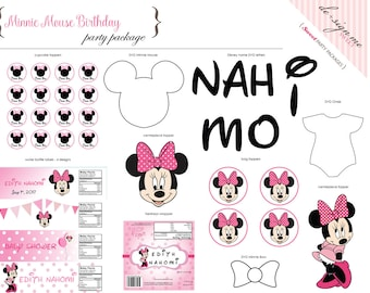 Printable Minnie Mouse Party Package