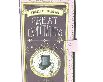 Charles Dickens Gift, Great Expectations Phone Case, iPhone Case, Book Phone Case, Book iPhone Case, iPhone 8, iPhone 7, Wallet Phone Case