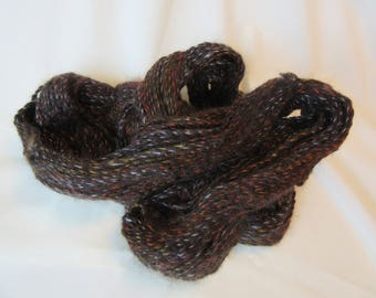 2 Ply Handspun Alpaca Yarn - All Natural Brown  - Grade 3 - Fine - Alpaca - Sport Weight, 225 Yds - 14-18 WPI