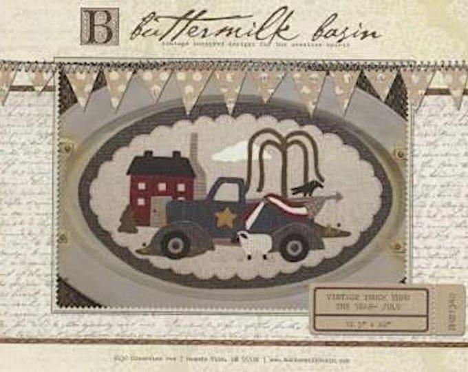 "Pattern: Vintage Truck Thru the Year - July ""Flag"" by Buttermilk Basin"