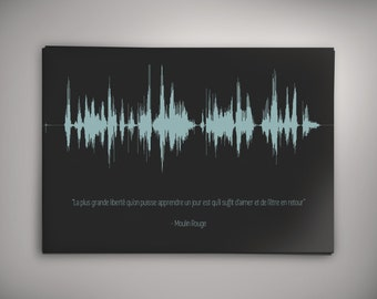 Personnalized quote - Sound wave art - A4 A5 A3