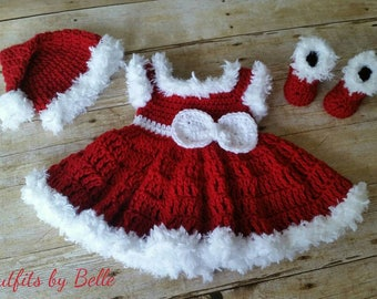 Crochet Baby Outfit, Take Home Baby Outfit, Coming Home Dress, Infant Outfits, Crochet Newborn Outfit, Photo Prop Outfit, Infant Christmas