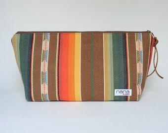 Nana large zip travel bag: Southwestern stripes
