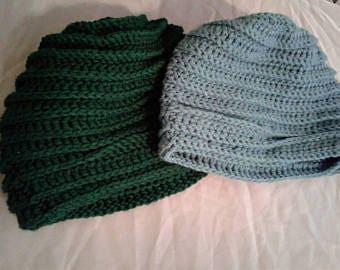 Crochet Pattern Ribbed Beanie