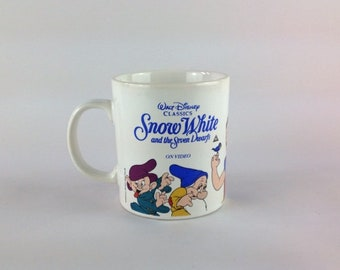 Vintage Mug Snow White & The Seven Dwarves Kilncraft Staffordshire Pottery Mug English Dwarf Grumpy Dopey Doc Sneezey