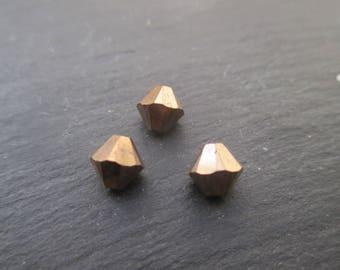 Spinning tops Crystal Swarovski 6 mm: 4 beads bronze