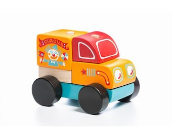 Educational Wooden Off Roader Car Toy by Cubika T10