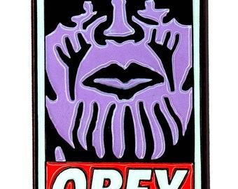 Obey The Mad Titan SHIPS May 1st | Soft enamel pin Avengers Infinity War punk pin Thanos death enamel pin propaganda street art comics